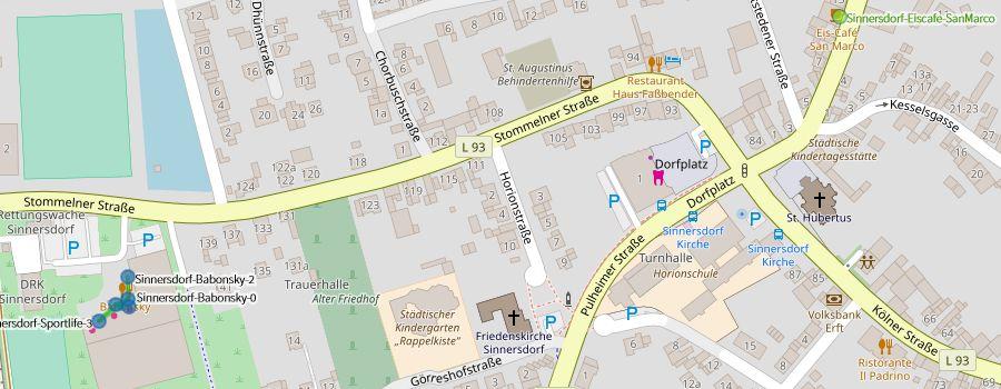 Freifunk Sinnersdorf, Karte/Map vom 02.10.2018 (Ausschnitt)